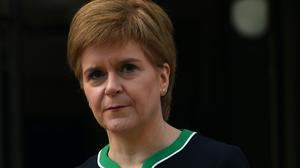 The First Minister spoke at her daily coronavirus briefing (Andy Buchanan/PA)