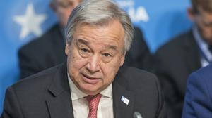 "Antonio Guterres said human activities are driving a ""descent towards chaos"" (Jack Hill/The Times/PA)"
