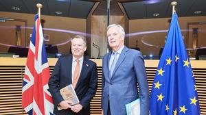 Chief negotiators David Frost and Michel Barnier have completed another round of post-Brexit trade talks in London (Dati Bendo/EU)