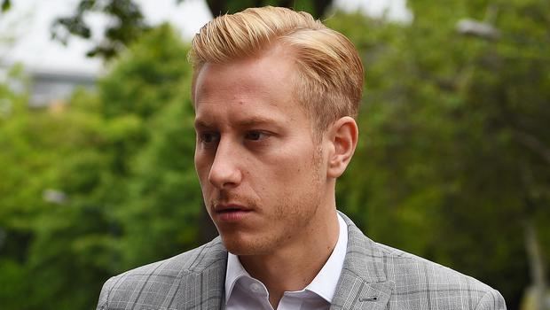 Kris Boyson is charged with the use of threatening, abusive and insulting words and behaviour with intent to cause fear or provoke unlawful violence (Kirsty O'Connor/PA)