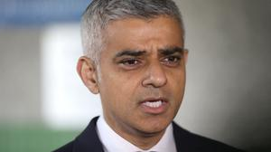 Mayor of London Sadiq Khan speaks to the media as he joined London Ambulance workers in observing a minute's silence at London Ambulance Service HQ at Waterloo in honour of the London Bridge terror attack victims (Yui Mok/PA)