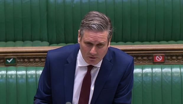 Labour leader Sir Keir Starmer accused the Government of a slow response to the crisis (House of Commons/PA)