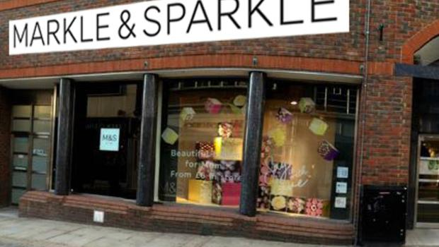 A mock-up of the MandS store in Windsor rebranded as Markle and Sparkle in celebration of the royal wedding. (MandS/PA)