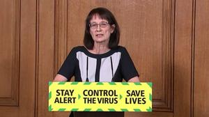 Screen grab of Deputy Chief Medical Officer Dr Jenny Harries, during a media briefing in Downing Street, London, on coronavirus (COVID-19).
