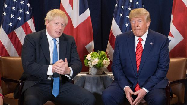 Prime Minister Boris Johnson and US President Donald Trump are attending Nato meetings (Stefan Rousseau/PA)