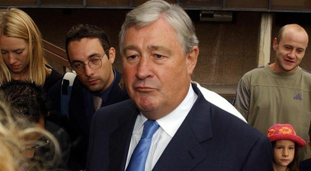 Geoffrey Robinson has left politics but questions continue to be asked (David Jones/PA)