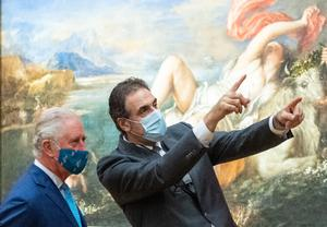 The Prince of Wales and National Gallery director Dr Gabriele Finaldi (Dominic Lipinski/PA)
