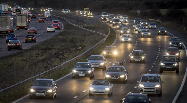 Some 31.2m leisure trips by road are expected between Tuesday and Christmas Eve (Rui Vieira/PA)