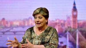 Shadow foreign secretary Emily Thornberry appearing on The Andrew Marr Show (Jeff Overs/BBC/PA)