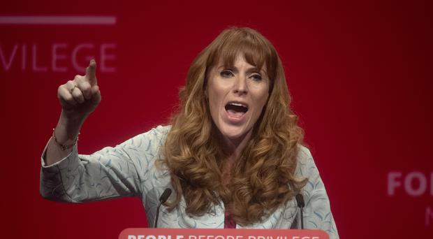 Shadow education secretary Angela Rayner gives a speech during the Labour Party conference (Victoria Jones/PA)