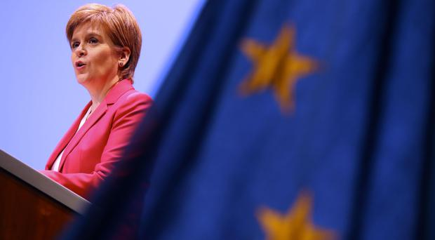 First Minister Nicola Sturgeon will speak at the STUC conference on Wednesday (Andrew Milligan/PA)