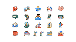 WhatsApp's new Together at Home sticker pack. (WhatsApp)