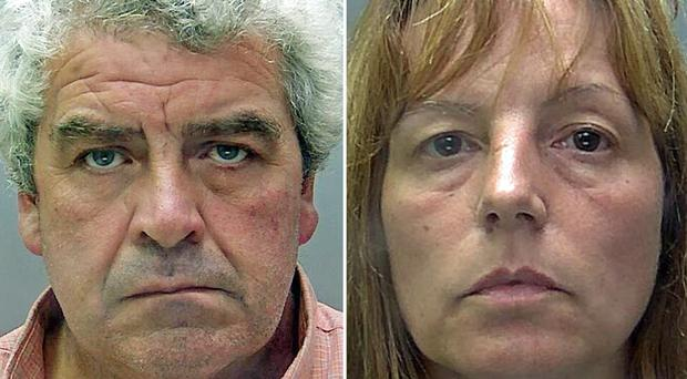 Angela Taylor and Paul Cannon have been convicted of murdering her husband William Taylor (Hertfordshire Police/PA)