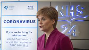 The First Minister tried to reassure the public (Jane Barlow/PA)