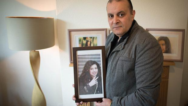 Mohamed Moustafa, the father of Mariam Moustafa, at his home in Nottingham (Stefan Rousseau/PA)