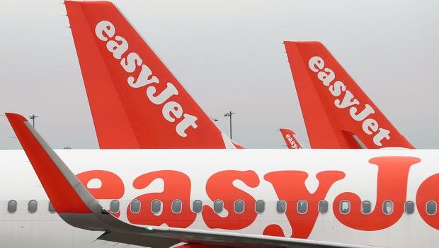 EasyJet reported a 26% drop in pre-tax profits for the 12 months to September 30 (Gareth Fuller/PA)