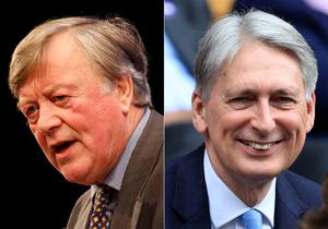 Former chancellors Ken Clarke and Philip Hammond/PA)