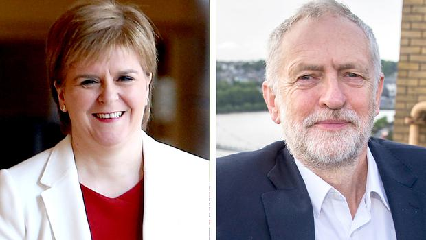 Nicola Sturgeon and Jeremy Corbyn are on a collision course over a second Scottish referendum (PA)