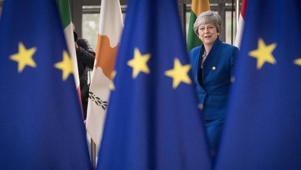 Prime Minister Theresa May arrives at the European Council (Stefan Rousseau/PA)