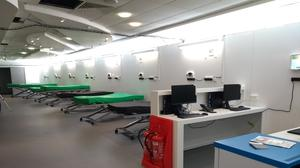 The President's Lounge has been transformed from a lounge bar to hospital bays (Cardiff and Vale University Health Board/PA)
