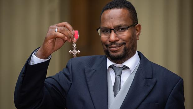 Christie Spurling with his MBE medal (Dominic Lipinski/PA)
