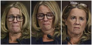 Christine Blasey Ford appeared before the Senate Judiciary Committee on Thursday (Pool Image via AP)
