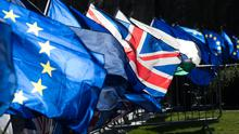 British and EU flags (Jonathan Brady/PA)