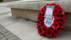 A wreath laid at the National Memorial Arboretum (Jacob King/PA)