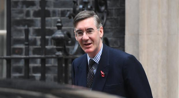 Leader of the House of Commons Jacob Rees-Mogg arrives for a Cabinet meeting in Downing Street, London.