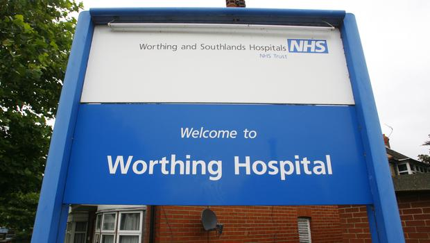 One of the eight coronavirus cases in the UK is a healthcare worker at Worthing Hospital A and E (Chris Ison/PA)