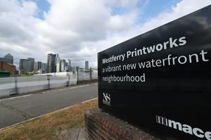 The Westferry Printworks site on the Isle of Dogs, east London (Yui Mok/PA)