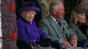 The Queen alongside the Prince of Wales at the Braemar Gathering (Andrew Milligan/PA)