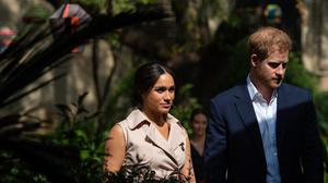 The Duke and Duchess of Sussex on their tour of Africa (Dominic Lipinski/PA)