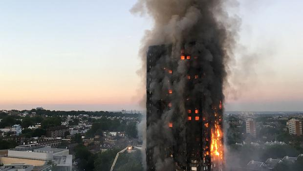 The fire at Grenfell Tower (Natalie Oxford/PA)