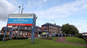 The little boy died at Alder Hey Hospital in Liverpool