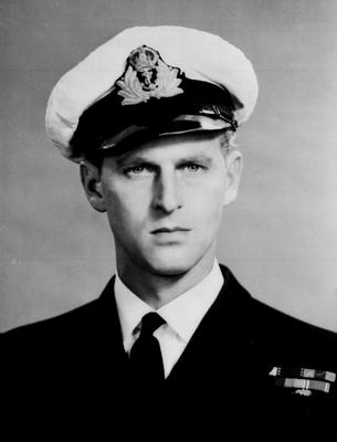 The Duke of Edinburgh as a serving officer in the Royal Navy (PA)
