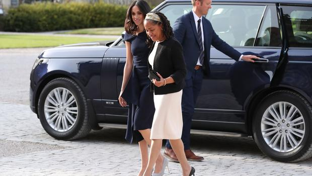 Meghan and her mother Doria Ragland are staying at the luxury hotel Cliveden House Hotel (Steve Parson/PA)