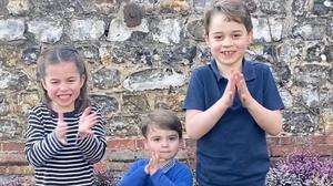 The children of the Duke and Duchess of Cambridge applaud the NHS on Instagram (Duke and Duchess of Cambridge)