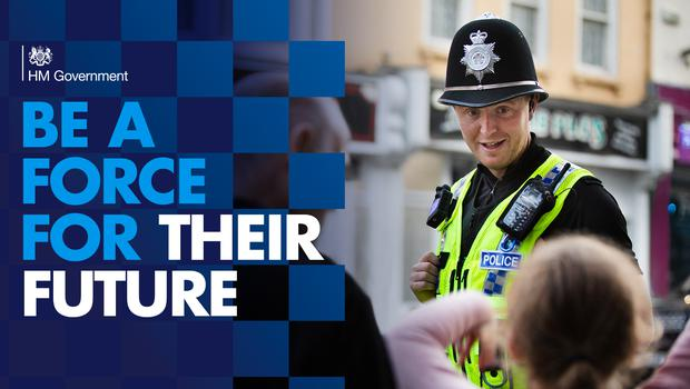 The Government wants to recruit 20,000 new police officers (Home Office/PA)