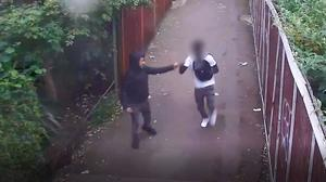 CCTV of William Haines, left, was found guilty of murder, and his co-accused who was cleared of murder but admitted manslaughter and having a knife (Metropolitan Police/PA)