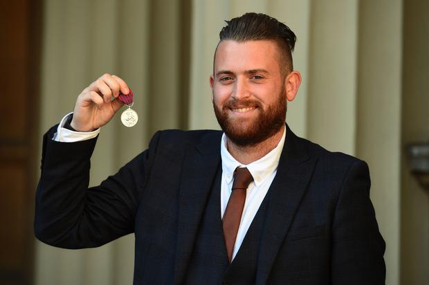 Pc Guenigault was awarded the George Medal (Kirsty O'Connor/PA)