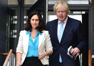 Boris Johnson and his ex-wife Marina Wheeler pictured in 2015 (Dominic Lipinski/PA)