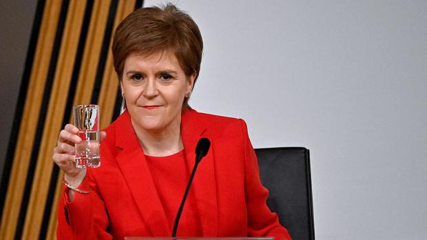 First Minister Nicola Sturgeon was questioned by MSPs for almost seven hours about the government's unlawful investigation of Alex Salmond (Jeff J Mitchell/PA)