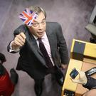 Nigel Farage after addressing the European Parliament (Francisco Seco/AP)