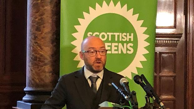 Scottish Greens co-Leader Patrick Harvie was speaking at the launch of his party's manifesto in Glasgow (Lewis McKenzie/PA)