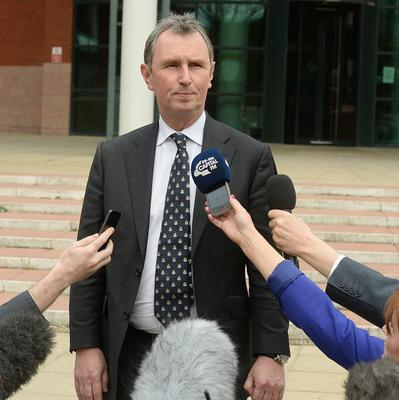Former Commons deputy speaker Nigel Evans speaks outside Preston Crown Court after he was found not guilty of nine charges after a five-week trial