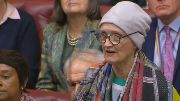 Dame Tessa Jowell speaking in the House of Lords in London, after she was diagnosed last May with a high-grade brain tumour (PA)