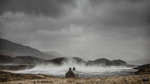 Dougie Cunningham of Loch Stack in Sutherland, Scotland, took his picture entitled Shelter from the Storm (Take A View/PA)
