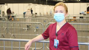 Elaine Slattery, overall clinical lead for the mass vaccination centre at the PandJ Live venue in Aberdeen (NHS Grampian/PA)