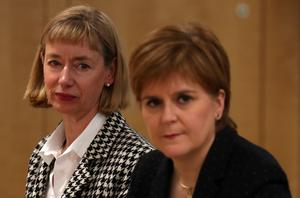 First Minister Nicola Sturgeon, right, and Permanent Secretary Leslie Evans (Andrew Milligan/PA)